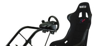 Image shows a racing style PC gaming chair. We discuss the cost of a gaming chair in this piece